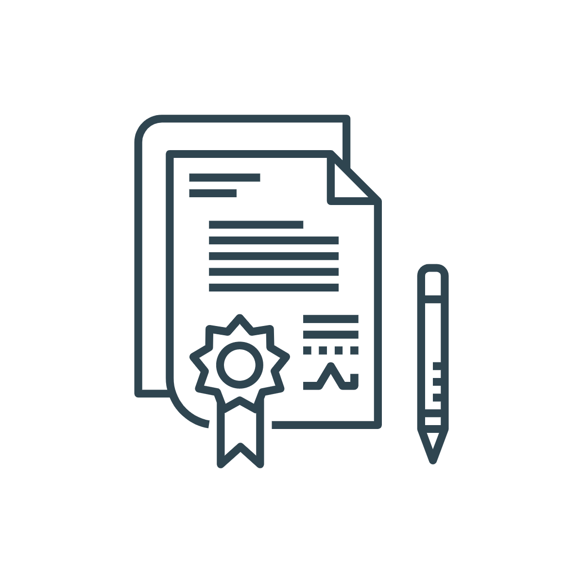 icon of documents with star pasted on it